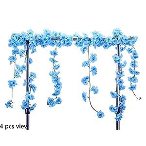 StarLifey Artificial Cherry Blossom Garland Hanging Vine 6.5 Ft Silk Garland Artificial Flower Wedding Party Decor,Pack of 2 107