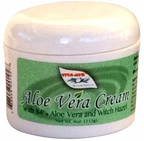 Vitamyr Aloe Vera Cream W/ 84% Aloe Vera & Witch Hazel NEW! All Natural Soothing Organic Vegan & Gluten Free All-Season Skin Moisturizer & Maintenance Heals & Soothes Sunburns Effective!