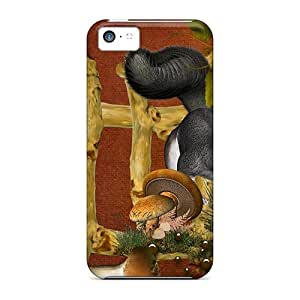 Awesome AQH15018RxGO Luoxunmobile333 Defender Hard Cases Covers For Iphone 5c- Mushrooms Squirrels