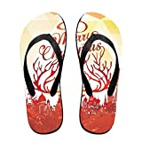 Couple Flip Flops 583fbe8a13ad2 Print Chic Sandals Slipper Rubber Non-Slip Beach Thong Slippers
