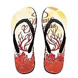Couple Flip Flops 583fbe8a13ad2 Print Chic Sandals Slipper Rubber Non-Slip Beach Thong Slippers