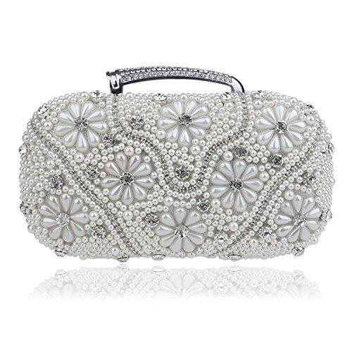 Rhinestones Chain Messenger Handle silver With Day Beaded Wedding TuTu Bags Bag Women Clutches Handbags Evening For Shoulder atqxFUw8TX