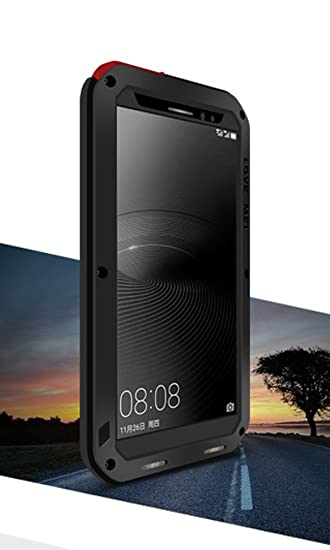 check out 979da 8f491 LOVE MEI Case for HUAWEI Mate 8, Waterproof Shockproof Dustproof Aluminum  Metal with Gorilla Glass Cover Black *Two-Years Warranty*