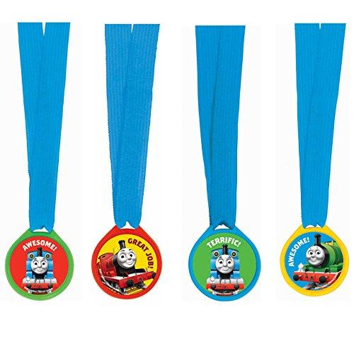 Amscan Awesome Thomas The Tank Award Medal Ribbons