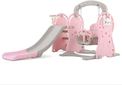 Thole Infantil Toboganes y Columpios Juguetes Niños Diapositiva para con Canasta Interior/Exterior/Parque/Jardín,Pink: Amazon.es: Deportes y aire libre