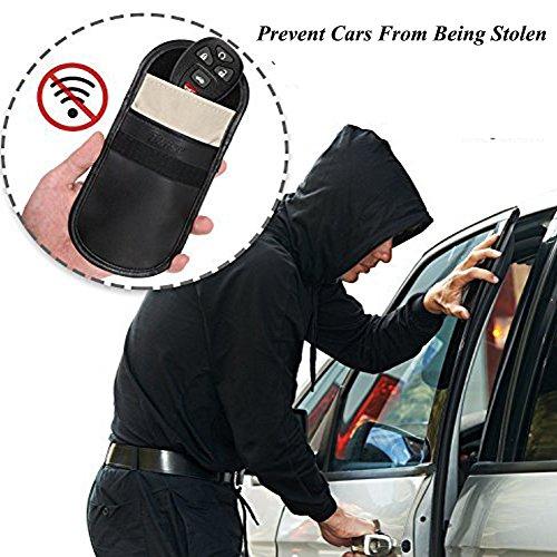 EIGIIS Car Key Fob Signal Blocking Cover Case,Faraday Bag RFID Key