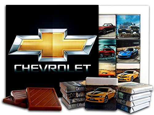 Monza Corvette (DA CHOCOLATE Candy Souvenir CHEVROLET Chocolate Gift Set 5x5in 1 box (Logo Prime))