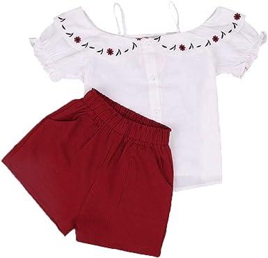 Conjunto de ropa para niñas Tops correa Moda 2 piezas de ropa de niña de moda