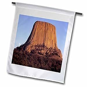 Danita Delimont - Wyoming - Wyoming, North Side of Devils Tower at Moonrise - US51 FZU0023 - Frank Zurey - 12 x 18 inch Garden Flag (fl_97307_1)