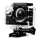 Elephone Sport Camera 4K@30fps 16MP WIFI Action Camera with Waterproof case Ultra-HD 2.0'' LCD Screen 170° Wide Angle Lens with Mounting Accessories Kit –Black Action Cameras Vikcam