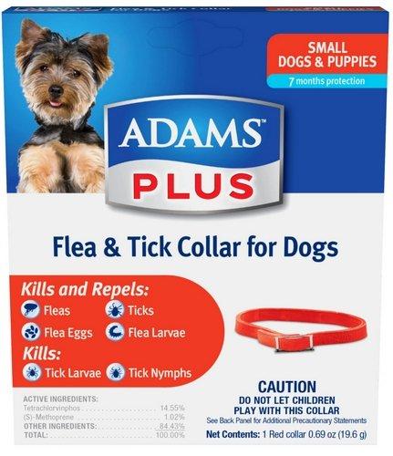Adams Plus Flea & Tick Collar for Small Dogs 6pk