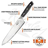 Chef Knife – Rivaley's Forged Chef Knife – Damascus stainless steel blade & Micarta handle
