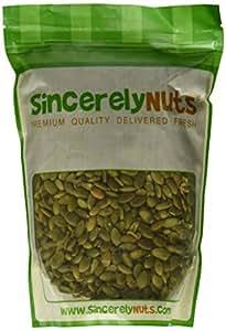 Sincerely Nuts Salted Shelled Pumpkin Seeds- 1 Lb. Bag- Nutrient Rich Pepitas- Unmatched Flavor & Freshness- 100% Kosher Certified