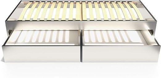 90x190 TOPMALO90T Letto Singolo Malo 90x190 cm cassetti ABC MEUBLES Bianco