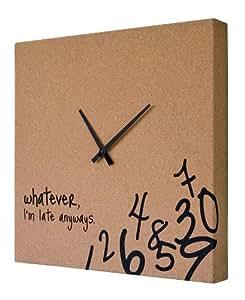 Cork Clock with Black Hands