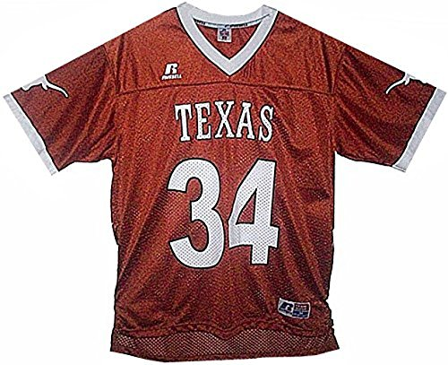 VF Texas Longhorns NCAA Mens Burnt Orange Russell Athletic Football Jersey Adult Sizes (L)