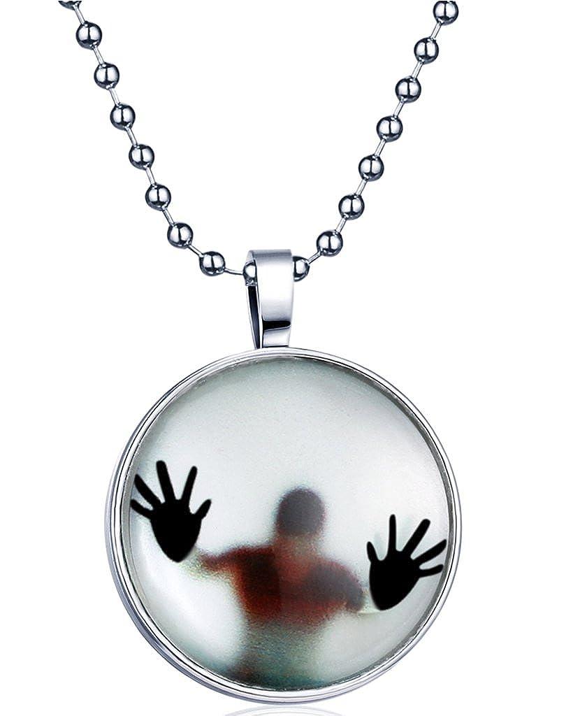 Yumi Lok Punk Rock Niño la oscuridad, para colgante collar aleación medallón kettenänhanger para mujer hombre, luz azul Yumilok Jewelry Y30014
