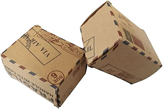 Amosfun Cincuenta Correos aéreos,Cartucho Preferido,con brújula,Papel de Vaca,Cajas de Dulces bonbonbonbonniere,Caja de Bodas preferida.: Amazon.es: Juguetes y juegos