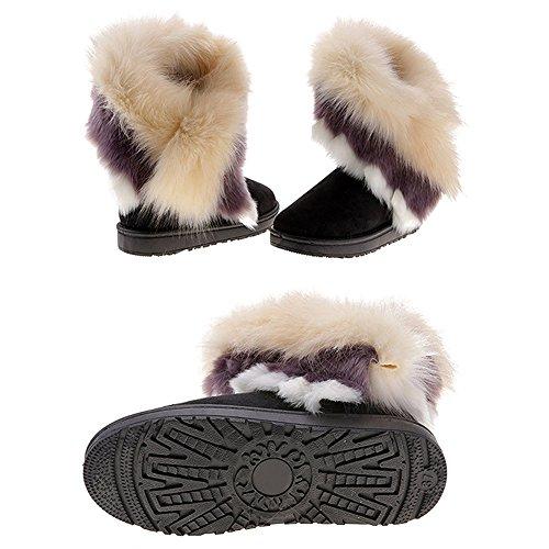 Winter Winter Black Snow Elegant Boots Ankle Fur Snow Boots Juleya Boots Women's Boots Boots qqYSAr
