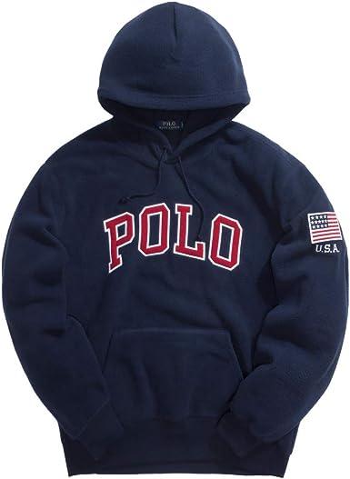 Polo Ralph Lauren Felpa uomo Mod. 710-696327 BLU XL: Amazon.es ...