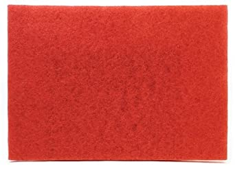 "3M Buffer Pad 5100, Red, 12"" x 18"" (Case of 20)"