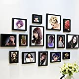 Home@Wall photo frame Photo Frames Wall ,Creative Wall Photo Frame Combination 15 Pcs/sets Collage,Family Picture Frame Wall DIY Photo Frame Sets ( Color : F , Size : 15frames/13575CM )