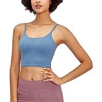 Nesyd Women Padded Sports Bra Longline Workout Yoga Fitness Gym Running Crop Tank Top Camisole Bra
