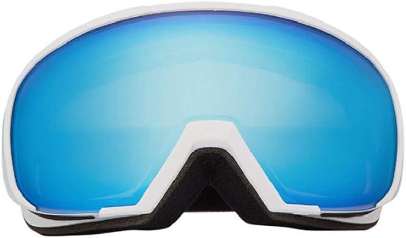 スキースノーゴーグル用男性女性大人、スノーボードゴーグルデュアルレンズとアンチフォグとUV保護 (Color : A) A