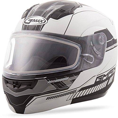 GMAX unisex-adult full-face-helmet-style Helmet (04 Snow Modular) (Flat White/Black, Medium) ()