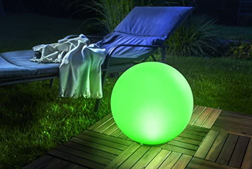 直径40 cm! 超ボリューム感の光り【GWSOLAR ソーラーボールライト】磨りガラスような質感でシンプルの光りと演出し、癒し空間を作る!! 配線不要なソーラー式/日亜製 LED ホワイトカラー&マルチカラー7色(お好み色調節可)、夜間自動点灯・昼間自動消灯 / ニッケル水素充電池1個内蔵、付属スパイク2本付き、 防水規格:IP65 用途:お店のディスプレー、キャンプ場、お庭・ベランダ・パーティ会場(GWソーラー)GW-DO310-40 (直径:40cm)