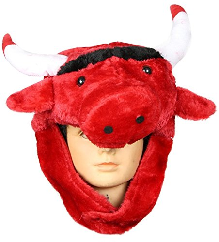 Petitebella Party Costume Hat Unisex Free Size (Red