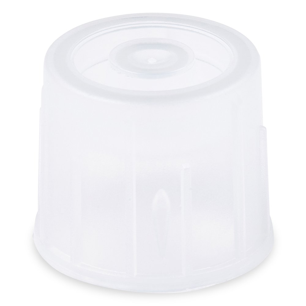 Dual Position Snap Cap, 12mm, Natural (Clear), LDPE Material, Karter Scientific 234Q2 - Pack of 1000