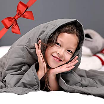 Image of ENITYA Comfort Weighted Blankets for Adult and Kids 7lbs (41'x60'), Soft Heavy Blanket for Sleeping with Glass Beads ENITYA B07SLYH4D5 Weighted Blankets