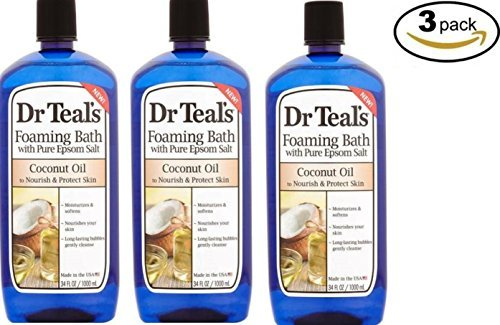Dr Teal's Coconut Oil Foaming Bath, 34 fl oz Dr. Teals (Pack of 3)