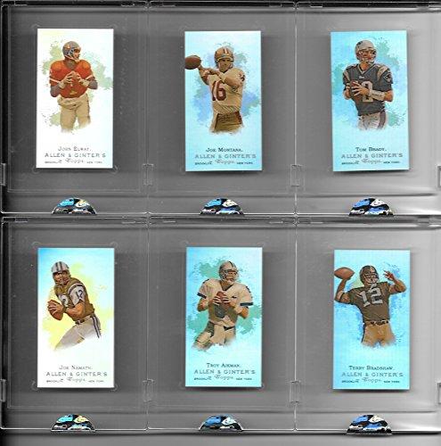 Very Rare 2008 eTopps Allen & Ginter Super Bowl Champions Uncirculated Matched Number Set #183/749 Includes Joe Montana, Joe Namath, Tom Brady, Terry Bradshaw, John Elway & Troy Aikman