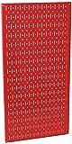 Wall Control 30-P-3216 R 32'' x 16'' Red Metal Pegboard Tool Board Panel