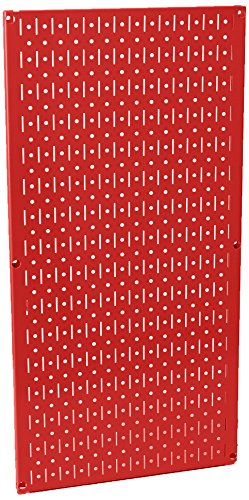 Wall Control 30-P-3216 R 32'' x 16'' Red Metal Pegboard Tool Board Panel by Wall Control