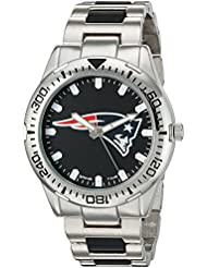 Game Time Mens Heavy Hitter  Metal and Alloy Quartz Analog  Watch, Color:Silver-Toned (Model: NFL-HH-NE)