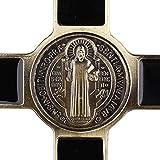 Saint Benedict Enamel Religious Gold 7 Inch Wall