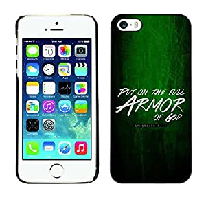 Planetar® ( Bible Verse-PUT ON THE ARMOR OF GOD - EPHESIANS 6:11 ) iPhone 5 / iPhone 5S Fundas Cover Cubre Hard Case Cover
