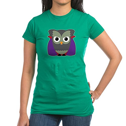 Truly Teague Junior Jr. Jersey T-Shirt (Dark) Spooky Little Owl Vampire Monster - Kelly Green, Medium -