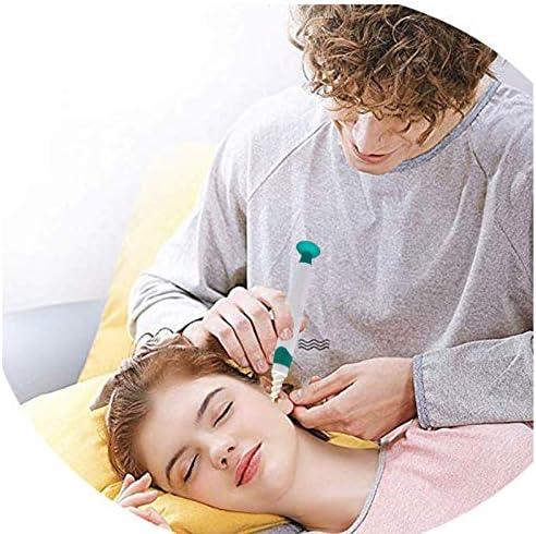 Adatto per Famiglia con Manico e 16 Punte Lavabili Q Grips Ear Wax Remover con Ventosa Q Twist Pulisci Orecchie Spirale Kit per Q Grips Cerume Pulisci Orecchie verde Sicuro e Morbido