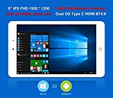 "ChuwiUSA Pro 8"" IPS FHD (1920 X 1200) Intel X5 Atom Z8350 Quad Core, Windows 10/Android 5.1 2G RAM,32G ROM eMMC, 2.0M Webcams, WiFi,Type-C and Micro HDMI Port,Kids Tablet PC"