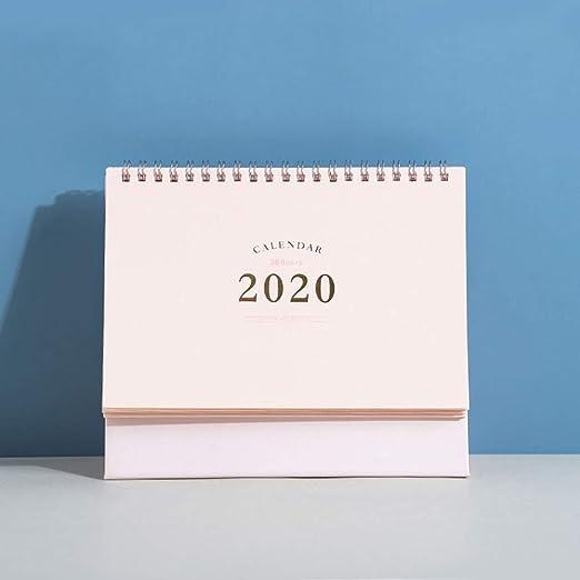 DEI QI Calendario de Escritorio 2019-2020 con Tapa de Mesa ...