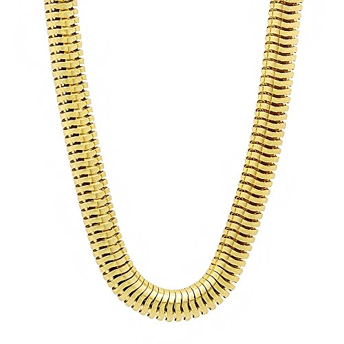 24 Inch 6mm Men's 14k Gold Plated Round Snake Chain Necklace