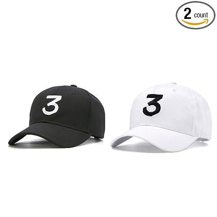 ac0345bd618 IVYRISE 2 Pack Embroider Chance Baseball Caps Hats Cool Baseball Rapper  Number 3 Cap