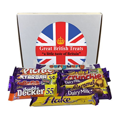 English Food (Cadbury Selection Box of 10 Full Size British Chocolate Bars)