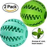 Foyojo 2-Pack Toy Ball for Dogs Tooth Cleaning Dog Toy Balls for Pet Non-Toxic Soft Rubbe Silicone,Perfect Gift for Pet Review