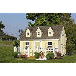 Little Cottage Company Cape Cod DIY Playhouse Kit, 8' x 12'