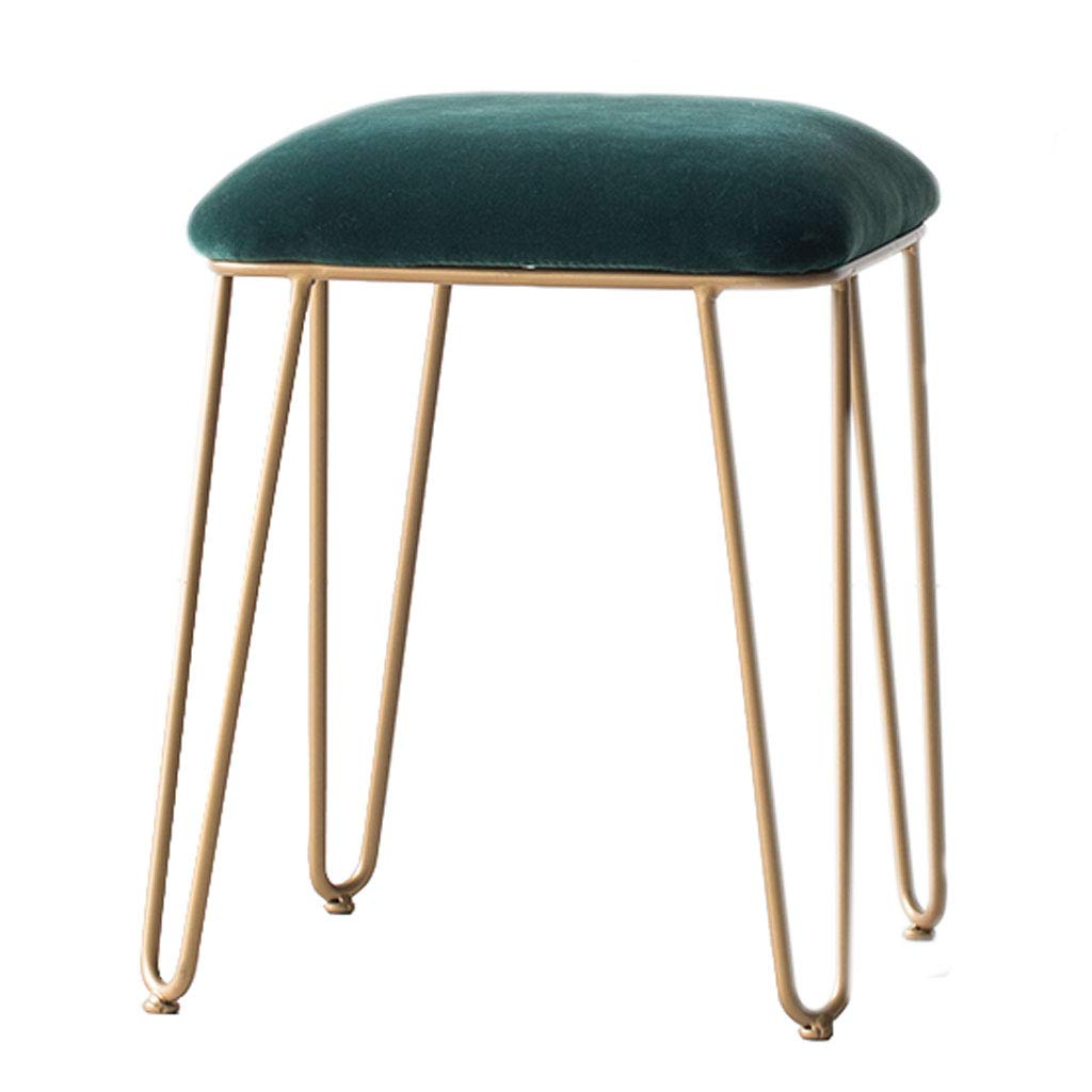 Modern Luxe Velvet Ottomans Support Upholstered Footstool Storage Ottoman Pouffe Chair Stool Movable Metal Base for Bedroom and Hallway, Living Room by SONGTING Ottomans
